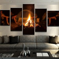 Camp Fire Canvas Set