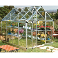 "Palram Snap and Grow 6' 9"" H x 6' W x 8' D Polycarbonate Greenhouse"
