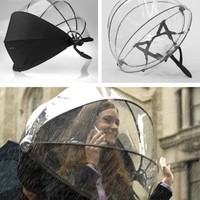 Nubrella is the 21st century umbrella. It is handsfree and the aerodynamic design blocks the wind and rain.