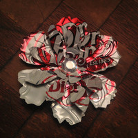 Recycled Diet Dr Pepper Soda Can Flower Hair Bow