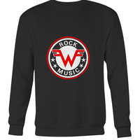 Weezer Logo Vintage Rock Music Long Sweater