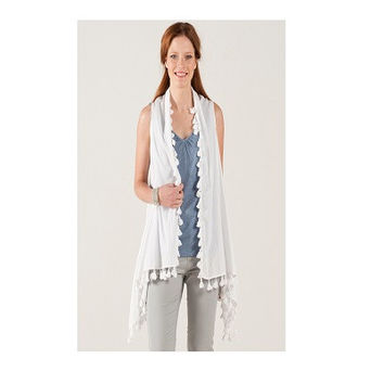 Nomads 2 In 1 Waterfall Waistcoat & Scarf. Made from cotton it is super soft against your skin and