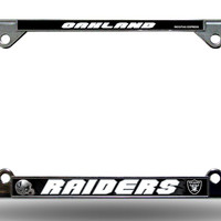Oakland Raiders Chrome License Plate Frame