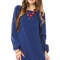Middleway Shift Dress in Blue - ShopSosie.com