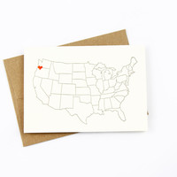 Heart in Portland Card
