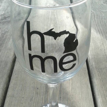 Michigan wine glass | home wine glass