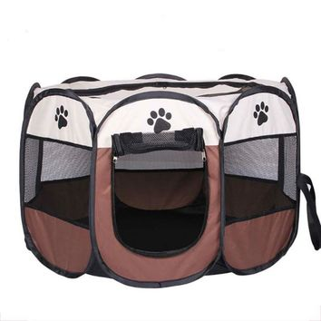 Portable Dog House Pet Cage Supplies Dog Carrier Fold Dog Playpen For Dog Cat Fence Kennel Outdoor Cat House Playpen Exercise