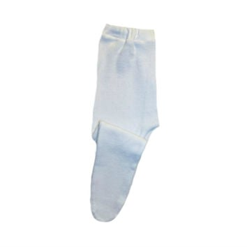 Baby Girls' Pretty White Pointelle Tights - Soft Elastic Waist