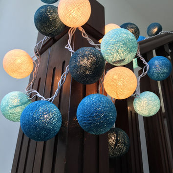 6SETS FOR Baby Blue..e String Lights Cotton Ball to Decorate Bed Rooms