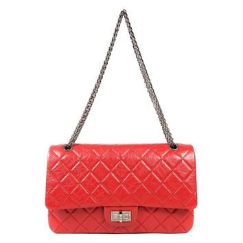 Chanel Red Calfskin 2.55 Reissue Flap Bag- 227 size