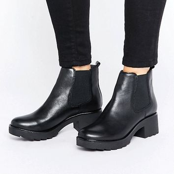 ALDO Manuan Chunky Leather Chelsea Boots at asos.com