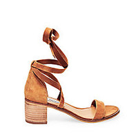 Strappy Low Heels in Suede | Steve Madden RIZZAA