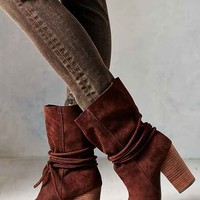 Ecote Carly Suede Ankle-Tie Boot-