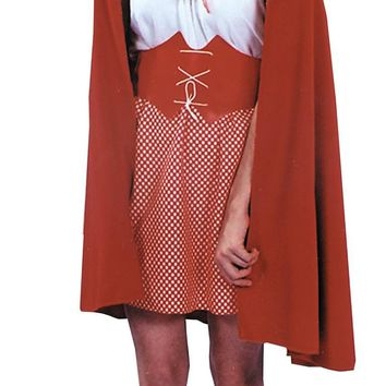 Red Riding Hood Cape Women's Costume