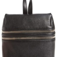 Kara Double Zipper Pebbled Leather Backpack | Nordstrom