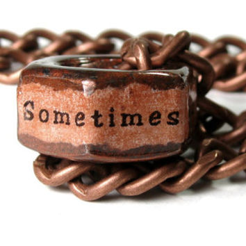 Sometimes You Feel Like A Nut, Industrial Chic, Hex Nut Necklace, Metal Jewelry, Gifts for Guys, Steampunk, For Him, Humorous, Funny