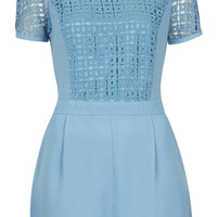 Cutwork TShirt Playsuit - New In This Week - New In - Topshop