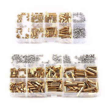 300pc Brass Spacer Standoff  Stainless Steel M2/M3 Hex Column Screw Nut Assortment Kit Set With Box