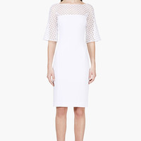 Zuhair Murad White Mesh Honeycomb Dress