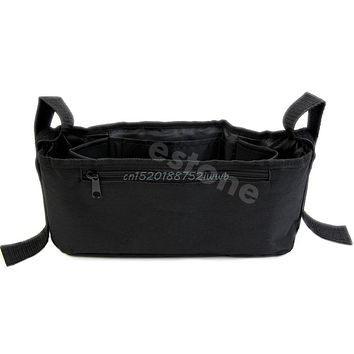 Stroller Drink Parent Tray Pram Console Organizer Double Cup Holder Phone Jogger #T026#