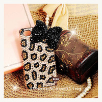 iPhone 4 Case, iPhone 4s Case, iPhone 5 Case, bling iphone 4 case, iphone 5 bling case, iphone 4 case bow, Cute iphone 4 case cheetah print