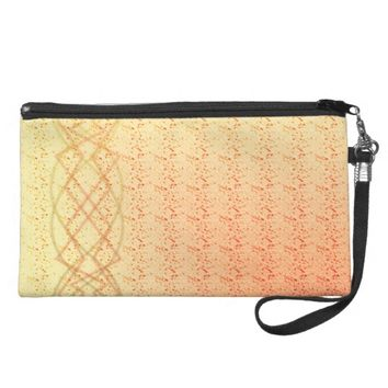 Orange Lights Wristlet Purse