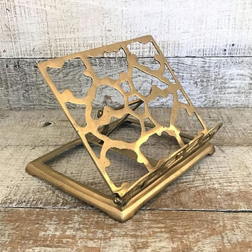 Book Stand Brass Book Holder Brass Easel Ornate Display Stand Music Sheet Stand Brass Bible Stand Recipe Stand Art Display Cookbook Holder