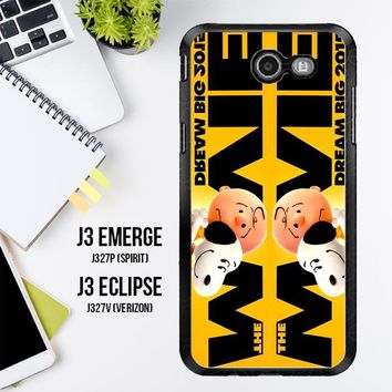 Snoopy And Charlie Brown The Peanuts 2015 Movie V 2104 Samsung Galaxy J3 Emerge, J3 Eclipse , Amp Prime 2, Express Prime 2 2017 SM J327 Case