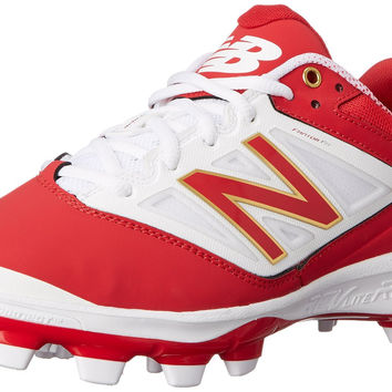 New Balance Red And White Cleats