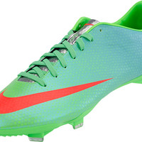 Nike Mercurial Vapor IX FG Soccer Cleats - Neo Lime with Polarized Blue - SoccerMaster.com