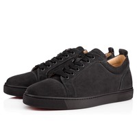 Sale Christian Louboutin Cl Louis Junior Men's Flat Charbon Suede 13s Shoes 3170052i132