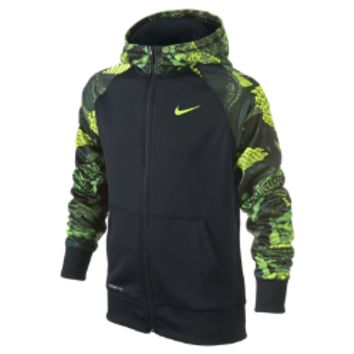 Nike Kobe Performance Full-Zip Boys' Training Hoodie Size Small (Black)