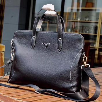 PRADA MEN'S NEW STYLE LEATHER BRIEFCASE BAG CROSS BODY BAG