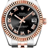Women's Rolex Lady-Datejust 26 Steel & Rose Gold Luxury Watch (Reference: 179171)