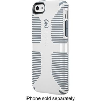 Speck - Candyshell Grip Case for Apple® iPhone® 5c - White/Gravel Gray