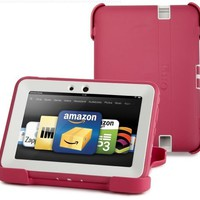 "OtterBox Defender Series Protective Case for Kindle Fire HD 7"" (Previous Generation), Pink/Papaya (with built-in screen protection)"