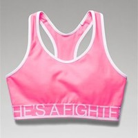 Under Armour Power in Pink Shes a Fighter Alpha Sports Bra 1236768-653