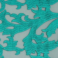 Embroidered Lace Flame Vine Ivy Branch Fabric