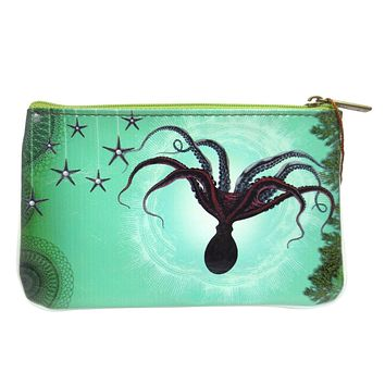 Ocean Dream Mystic Ocean Creature Small Flat Pouch
