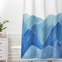 Viviana Gonzalez Lines in the mountains VIII Shower Curtain And Mat | Deny Designs