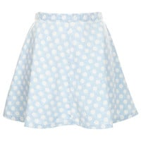 MOTO Bleach Spot Denim Skirt