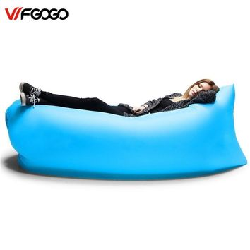 WFGOGO Lounger Fast Inflatable Sofa Outdoor Air Sleep Sofa Couch Portable Furniture Living Room Sofas for Summer Camping Beach