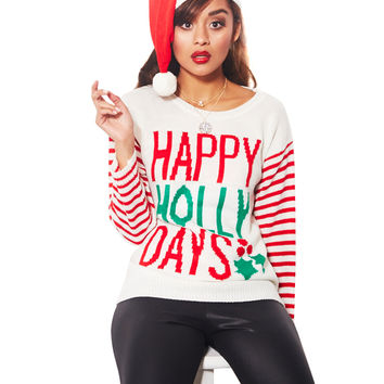 Happy Holly Days Sweater Set | Wet Seal