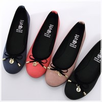 BN Womens Bowed Casual Cute Comfy Walking Ballet Flats Ballerinas Shoes Loafers