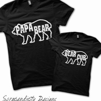 Papa Bear Shirt - Father Son Shirt / Papa Bear Cub / Father Daughter Outfit / Father's Day Shirt / Mens Camping Shirt / Father's Day Gift