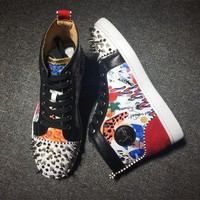 ONETOW Cl Christian Louboutin Style #2172 Sneakers Fashion Shoes