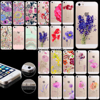 Flower Phone Case Apple iPhone 5 5S Skin Transparent Clear Back Cover