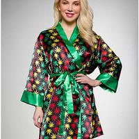 Rasta Silky Robe - Spencer's