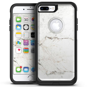 White Grungy Marble Surface - iPhone 7 or 7 Plus Commuter Case Skin Kit