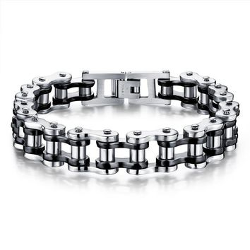 GAGAFEEL Men's Bracelets & Bangles Man Biker Bicycle Motorcycle Chain  Fashion 4 Color 316L Stainless Steel Jewelry JM781J Hot